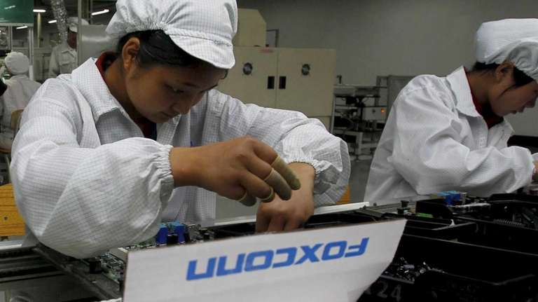 Chinese electronics manufacturer Foxconn said Tuesday it found