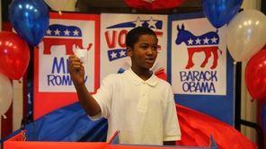Justin Martin, 11 in the 5th grade, casts