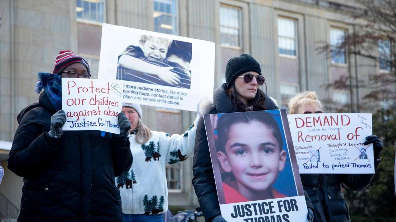 On Wednesday, advocates rallied outside theNassau County Courthouse