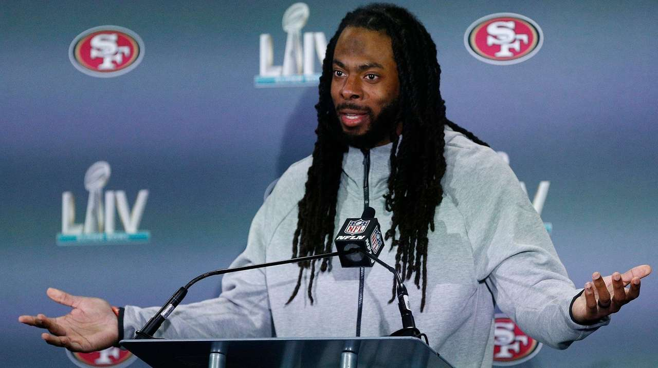 49ers' Sherman speaks his mind and makes the plays