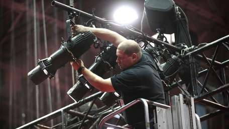 On Monday evening, stagehand Jonathan Mont of East