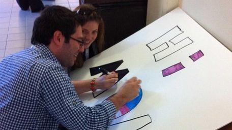 Ian Steinberg and Victoria Kaso, members of the