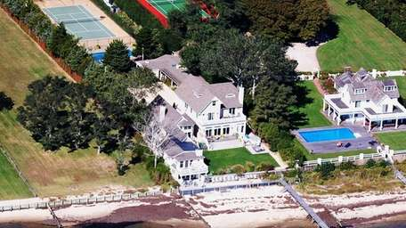 This waterfront Hamptons Bay property, which is on