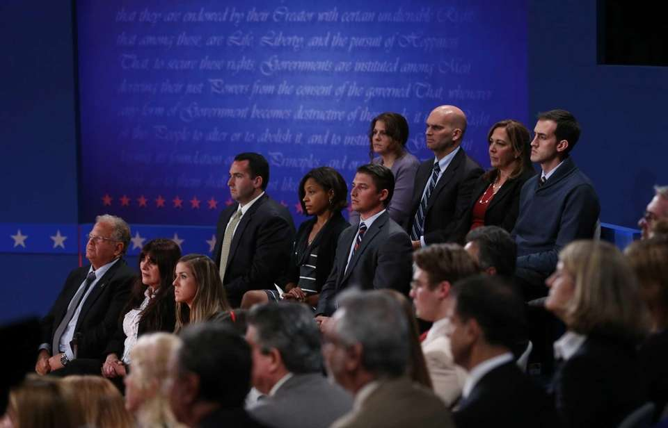 Members of the audience, undecided voters as identified