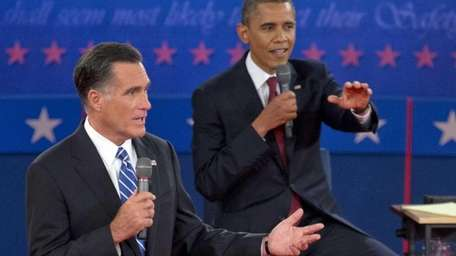 President Barack Obama, right, and Republican presidential candidate,