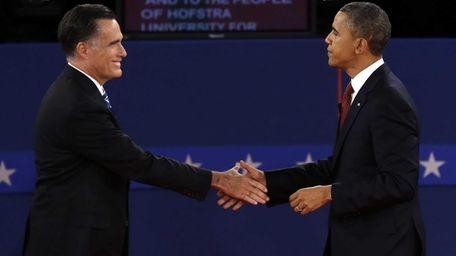 Republican presidential nominee Mitt Romney and President Barack
