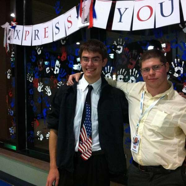 Libertarians Brett Linley and Tommy Smart at the
