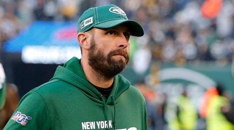 Jets head coach Adam Gase walks off the