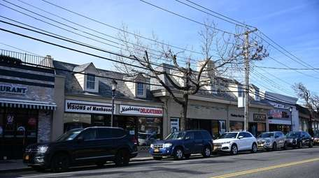 Businesses along Plandome Road in Manhasset, where some