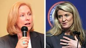 Democrat Kristen Gillibrand, left, is seeking reelection to