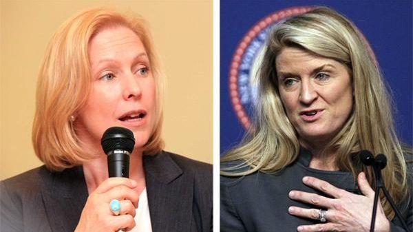 Democrat Kristen Gillibrand, left, is seeking reelection to