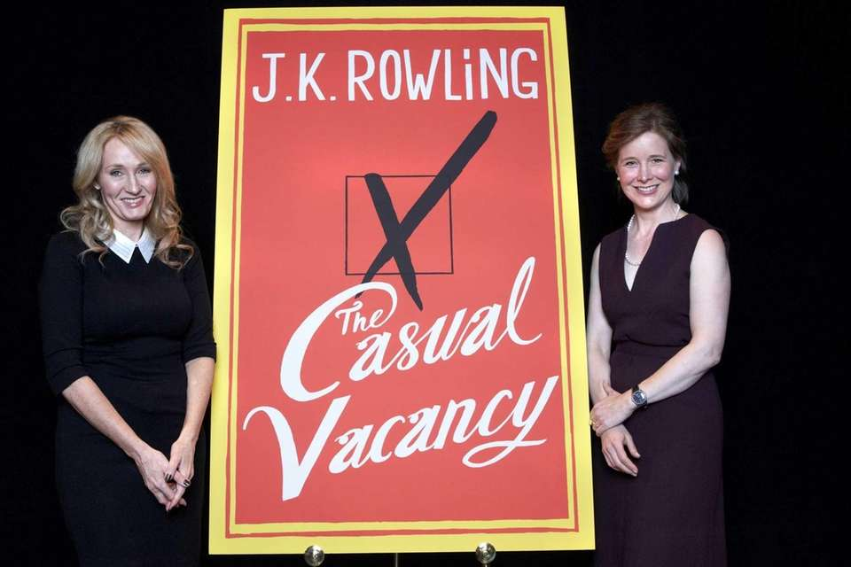 J.K. Rowling, left, and fellow author Ann Patchett