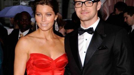 Jessica Biel and Justin Timberlake attend