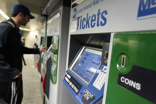 The self service ticket machines at the LIRR
