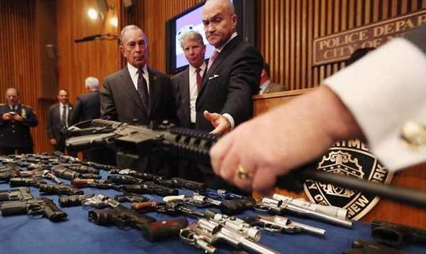 Illegal firearms sold to undercover officers. (Getty Images)