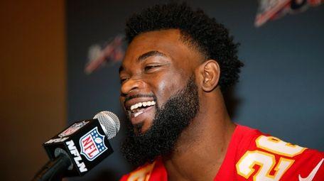 Kansas City Chiefs running back Damien Williams on