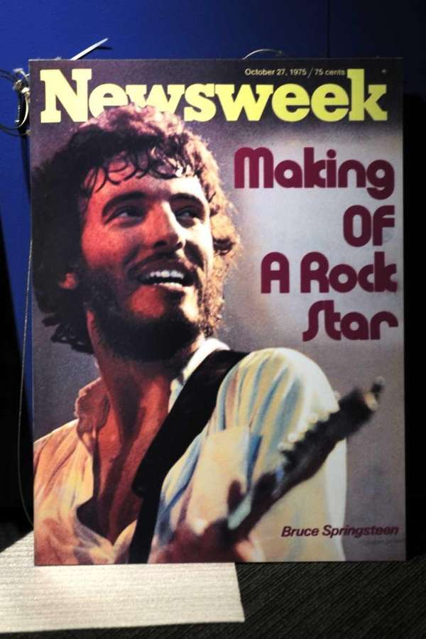 Bruce Springsteen appeared on the covers of both