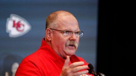 Kansas City Chiefs head coach Andy Reid speaks