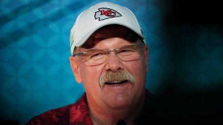 Kansas City Chiefs head coach Andy Reid of