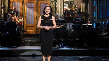"Julia Louis-Dreyfus during her ""Saturday Night Live"" monologue"