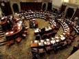 Members of the State Senate work in the