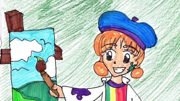 Kidsday staff artist Kaylah Bozkurtian, Garden City (Oct.