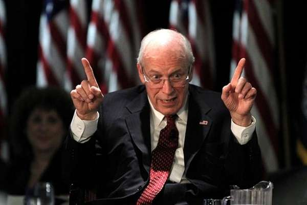 Former Vice President Dick Cheney lectures at the