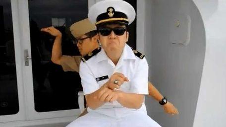 Midshipman Lt. JG Hyun Ho Lim, 21, leads