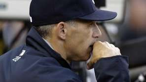 Joe Girardi watches in the fifth inning during