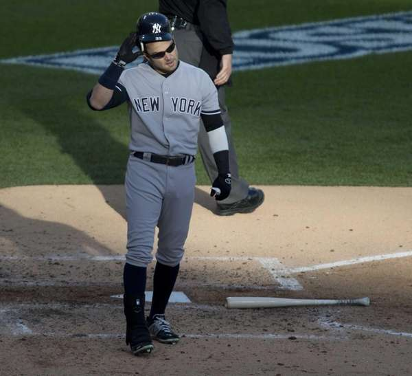 Nick Swisher strikes out in the third inning