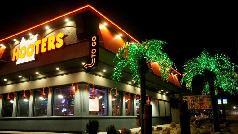 Hooters in Farmingdale, above, and Fresh Meadows will