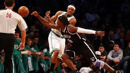 Gerald Wallace steals the ball from the Boston