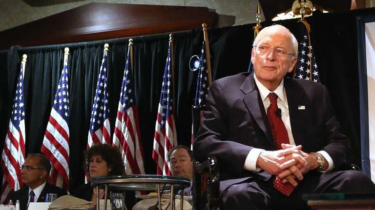 Former Vice President Dick Cheney speaks at the