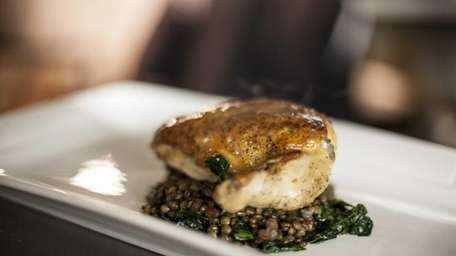 Madison's chicken, served with a white wine garlic