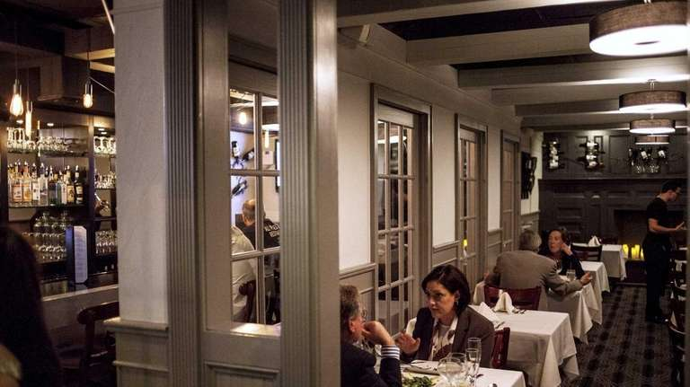The main dining room at Madison's restaurant in