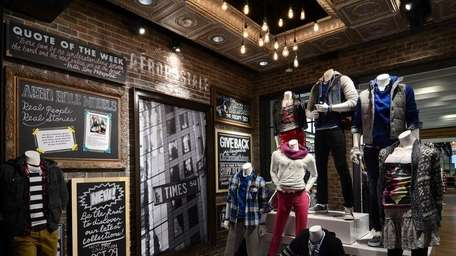 The entrance to the new Aeropostale concept store