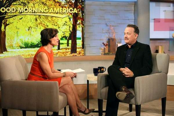 Tom Hanks and Elizabeth Vargas on