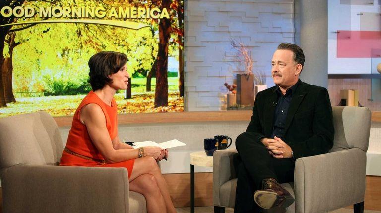 Tom Hanks and Elizabeth Vargas on