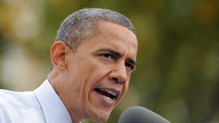 U.S. President Barack Obama speaks during a campaign