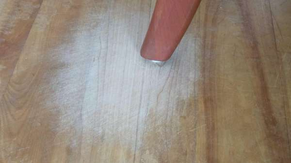 Hardwood floors can be damaged by chair