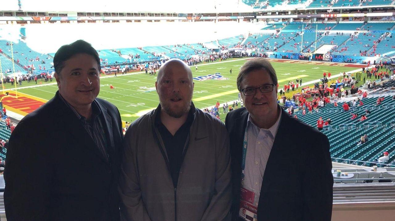 Newsday's football writers Al Iannazzone, Tom Rock and