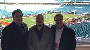 Newsday's football writers Al Iannazzone, Tom Rock and