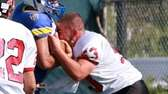 Plainedge's Robert Oliver goes to hit Lawrence's Joe