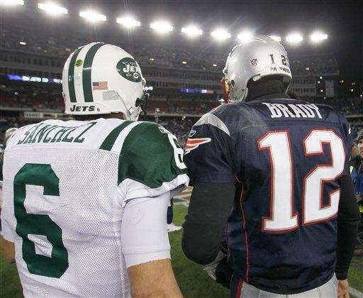 New England Patriots quarterback Tom Brady and Mark
