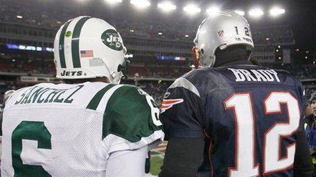 New England Patriots quarterback Tom Brady and Mark