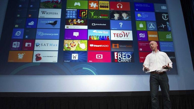 Microsoft executive Kirk Koenigsbauer introduces Windows 8 this