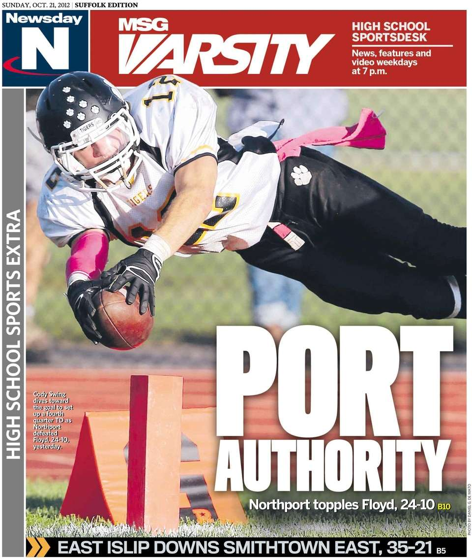 The Sunday edition of Newsday's high school sports