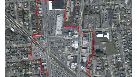 Downtown Bethpage Study Area, 2012 Aerial photograph. 1