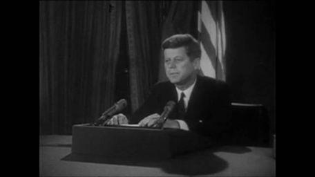 On October 22, 1962, President John F. Kennedy