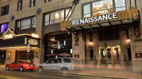 The Renaissance Hotel, in the downtown Fulton Building